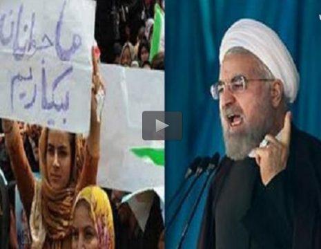 رئیس جمهور در پاسخ به شعار جمعی از مردم کرمانشاه در زمینه بیکاری در کشور که منجر به قطع ...